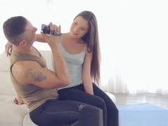 Teen in Hot Yoga Outfit Gets Anal