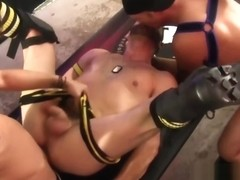 Good looking jocks have hardcore bareback orgy