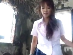 Kotomi Asakura naughty Asian babe in outdoor fuck session