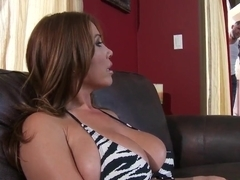 Young Asian pornstar Kianna Dior sucks dry a huge cock