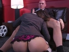 Nasty Allie Haze seduces her boss Johnny Sins