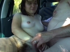 Milf Fucks In The Back Of A Car