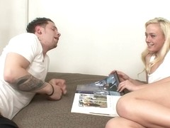 Raunchy Blond Stepsister Has A Crush On Stepbrother