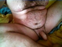 Pushing plug deep into my soft bear cub butt