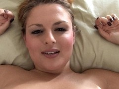 Irresistible blonde exposed in free down blouse video