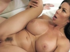 Experienced brunette cougar with big, firm tits, Alexis Fawx got down and dirty with a tattooed guy