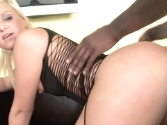Destiny Jaymes Gets Her White Ass Worshipped By A Black Man