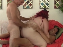 Fat Eliza Allure Stuffs Her Plump Pussy and Ass with Two Hard Cocks