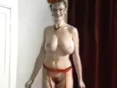 ALL YOUR LOVIN' - British big bouncy tits striptease dance