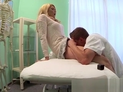 Blondie Izzy Delphine Gets Pleasured By Doctor