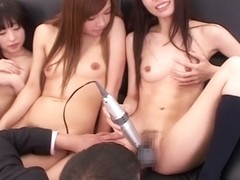 Horny Japanese slut Ayumu Sena in Exotic JAV censored Small Tits, Group Sex scene