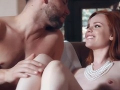 Classy, red haired whore, Ella Hughes likes to pamper Seth Gamble until he fucks her brains out