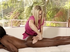 Exotic pornstars Misty Stone, Amanda Tate, Dani Daniels in Hottest Interracial, Massage porn movie