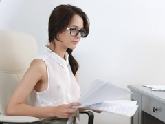 She Is Nerdy - Michelle Can - Nerdy secretary DPed at work