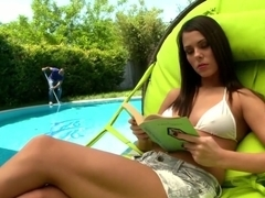 Hottest pornstar Melanie Memphis in amazing deep throat, outdoor xxx movie