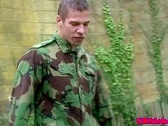 British soilder boys fuck after training