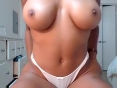 sexy black girl with a rock hard body