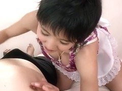 Sakura Aida amazes with her juicy lips in blowjob show