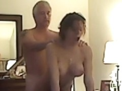 Lad fucking lascivious cheating wife on hidden camera