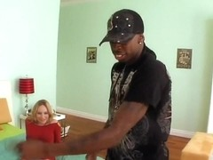 Next door cutie facefucked and boned by a big black dude