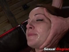 Bound ### gets mouth fucked