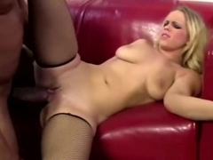 Britney Young Takes Long Black Schlong On Couch