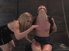 Fabulous fetish, fisting xxx clip with incredible pornstars Aiden Starr and Savannah West from Whippedass