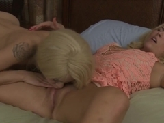 Elsa Jean And Summer Day Horny Lesbian Sex On The Bed