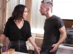 Instead of making a cooking show, Ginebra Bellucci is having steamy sex with two horny guys