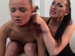 Mandy Bright and C J lesbian getting down to some dirty dominating