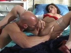 Hungry for pussy juice patient Johnny Sins tries to find it in sexy nurse Victoria Lawson's pussy