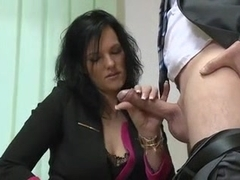 Tall austrian slut fucks again