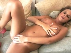 ATKGirlfriends video: Alexis Adams plays with big tits and shaved pussy