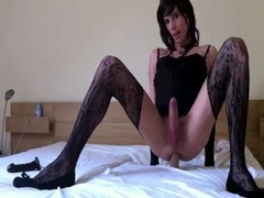Nasty Crossdresser With A Dildo