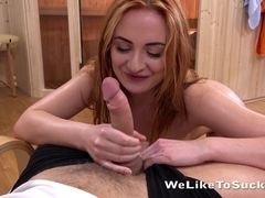 Cum In Mouth - Redhead Eva Berger gets a mouthful after ass to mouth