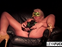 Leya Falcon in Leya Falcon Uses A Glass Toy To Make Herself Squirt - LeyaFalcon