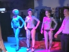 Naked Kia Girls BODY ART Show