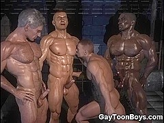 Muscled Homosexual Chaps 3D Dream!