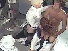 Private Classics, Hot Threesome in the Kitchen