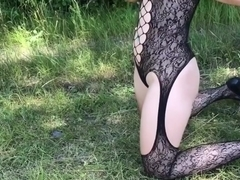 Outdoor hardcore anal fucking and facial