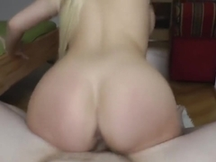 Angel Wicky is a smashing blonde lady who likes to fuck, even while her husband is working