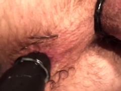 Boyfriend fucks his own hole & shoots load for me!