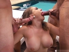 Kagney Linn Karter Poolside Double Penetration