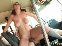 Big Tits at School: The Boobs on the Bus Go Round. Brooke Wylde, Tommy Gunn