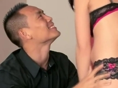 Raven Angel Blows Asian Dude