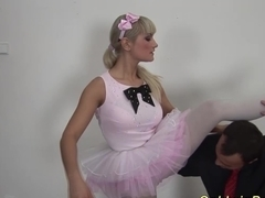 ballerina gets deep anal fisted