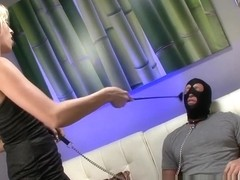 Violet Sky Plays with her Foot Addicted Slave
