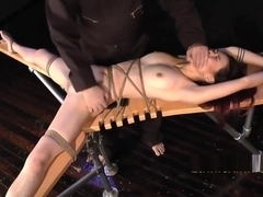 EthnicKink - Leah Hart Tickled on the Apparatus - meh she kinda h8s it