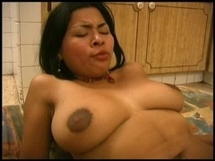 Latin Babe beauty fucking in the kitchen