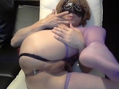 Incredible Amateur Shemale clip with Solo, Stockings scenes